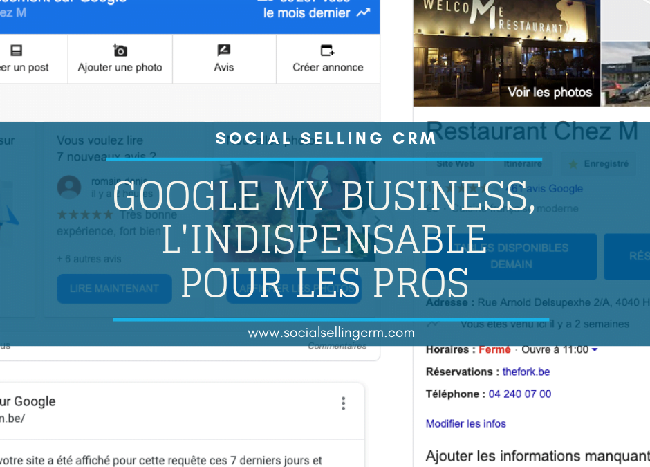 Google My Business, l'indispensable pour les pros